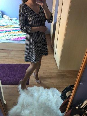 Zara Basic Vestido beige-negro