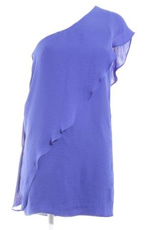 Zara Basic One-Shoulder-Kleid blau klassischer Stil