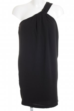 Zara Basic One-Shoulder-Kleid schwarz Elegant