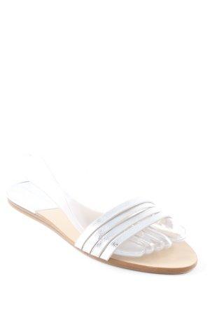 Zara Basic Outdoor-Sandalen silberfarben Elegant