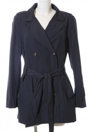 Zara Basic Outdoorjacke blau Business-Look