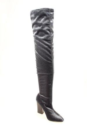 Zara Basic Overknees graublau Party-Look