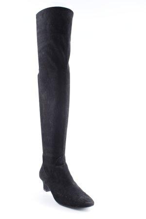 Zara Basic Overknees schwarz Casual-Look