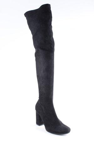 Zara Basic Overknees schwarz Paris-Look