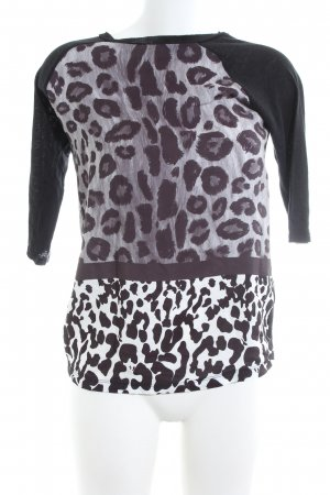 Zara Basic Oversized Bluse Animalmuster Casual-Look