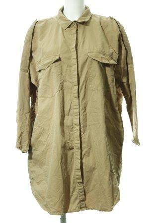 Zara Basic Oversized Bluse beige klassischer Stil