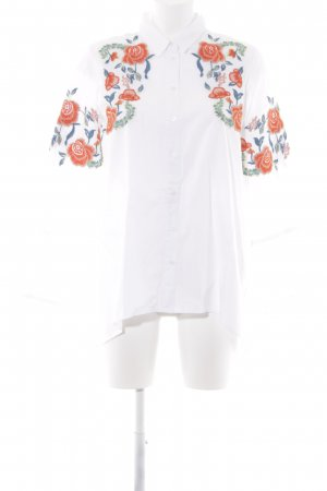 Zara Basic Oversized Bluse Blumenmuster Street-Fashion-Look