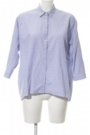 Zara Basic Oversized Bluse Punktemuster Casual-Look