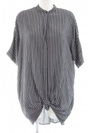Zara Basic Oversized Bluse schwarz-weiß Streifenmuster Casual-Look