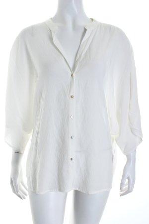 Zara Basic Oversized Bluse wollweiß Transparenz-Optik