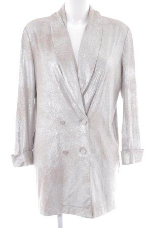 Zara Basic Oversized Jacke silberfarben-hellbeige Elegant