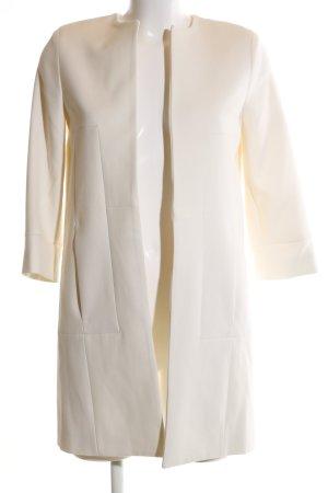 Zara Basic Oversized Mantel wollweiß Business-Look