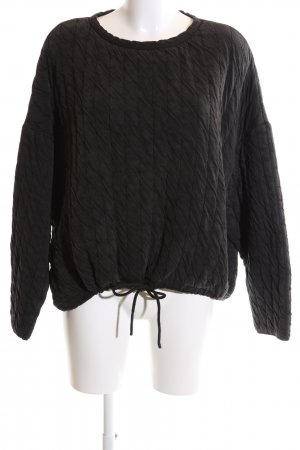 Zara Basic Oversized Sweater black cable stitch casual look