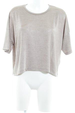 Zara Basic Oversized Shirt beige meliert schlichter Stil
