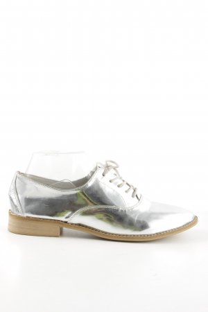 Zara Basic Zapatos estilo Oxford color plata look casual