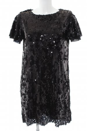 Zara Basic Robe à paillettes noir style festif