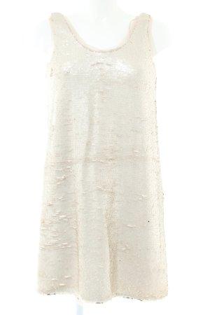 Zara Basic Sequin Dress natural white elegant