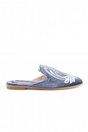 Zara Basic Pantuflas azul look casual