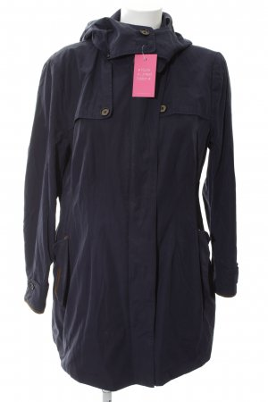 Zara Basic Parka blau Casual-Look