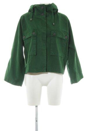 Zara Basic Parka waldgrün Casual-Look