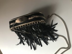 Zara Basic Fringed Bag black-gold-colored