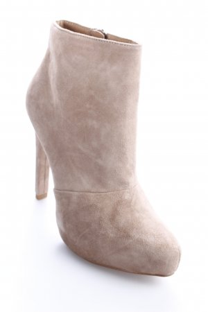 Zara Basic Plateau-Stiefeletten beige Eleganz-Look