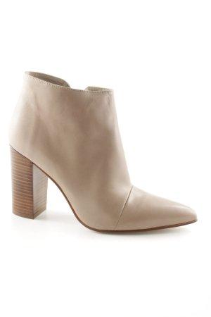 Zara Basic Plateau-Stiefeletten sandbraun Business-Look