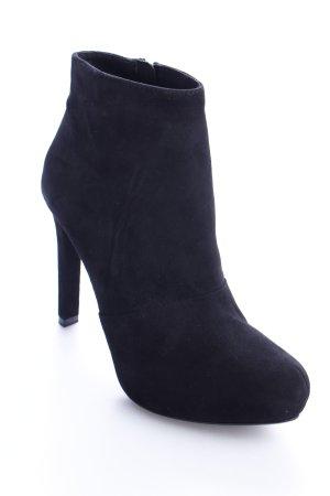 Zara Basic Plateau-Stiefeletten schwarz Eleganz-Look