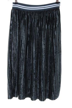 Zara Basic Plisseerock blau Elegant