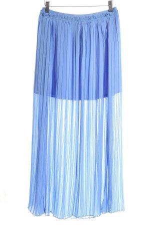 Zara Basic Geplooide rok blauw casual uitstraling