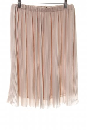 Zara Basic Geplooide rok nude elegant