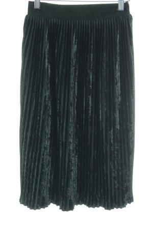 Zara Basic Geplooide rok bos Groen fluwelen uiterlijk