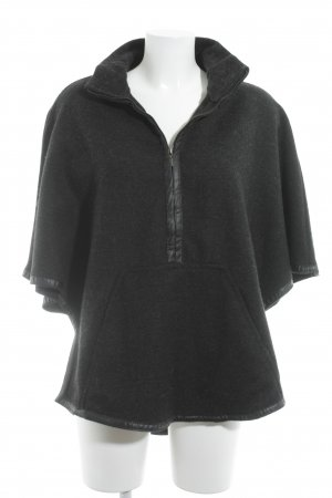 Zara Basic Poncho anthrazit Casual-Look