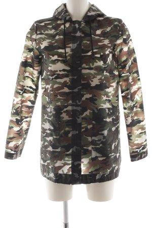 Zara Basic Raincoat camouflage pattern casual look