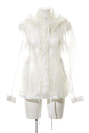Zara Basic Regenjacke weiß Casual-Look