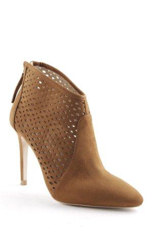 Zara Basic Reißverschluss-Stiefeletten braun Elegant