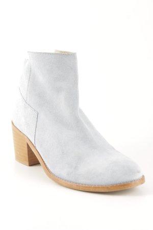Zara Basic Reißverschluss-Stiefeletten himmelblau-sandbraun Casual-Look