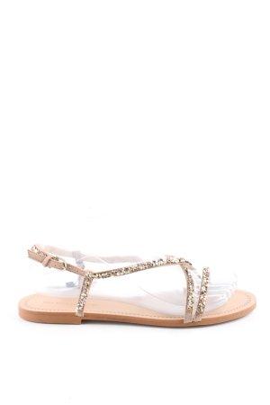 Zara Basic Sandalo con cinturino color carne-oro elegante
