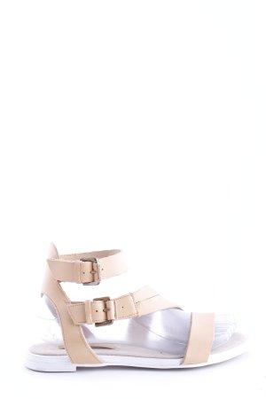 Zara Basic Sandalo con cinturino crema stile casual
