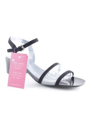 Zara Basic Riemchen-Sandalen schwarz Elegant