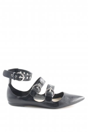 Zara Basic Strapped Sandals black simple style
