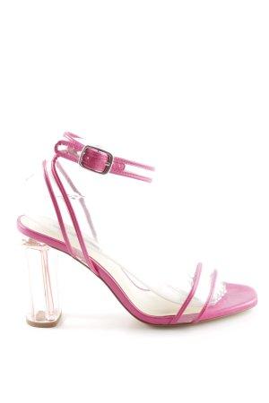 Zara Basic Riemchen-Sandaletten pink Elegant