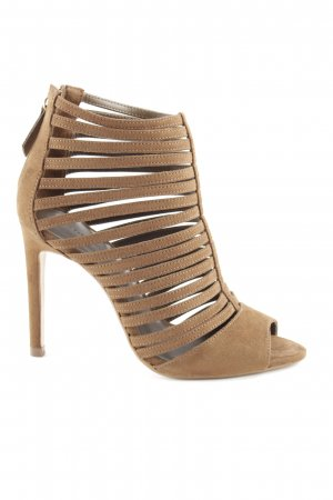 Zara Basic Strapped High-Heeled Sandals brown simple style