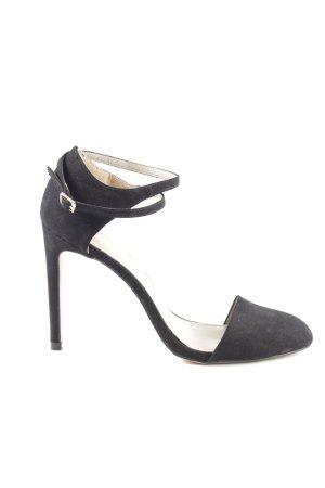 Zara Basic Riemchen-Sandaletten schwarz Business-Look
