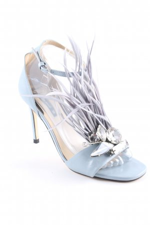 Zara Basic Riemchen-Sandaletten himmelblau Street-Fashion-Look
