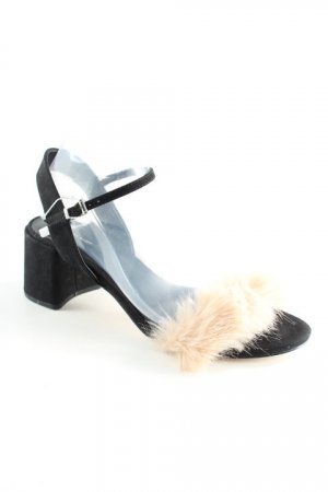 Zara Basic Riemchen-Sandaletten schwarz-creme Elegant