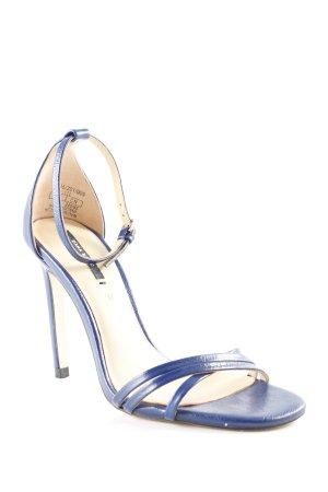 Zara Basic Pumps met bandjes donkerblauw elegant