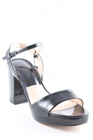 Zara Basic Riemchenpumps schwarz Elegant