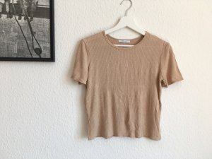 Zara Basic Rippshirt Gr S beige