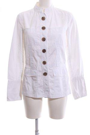 Zara Basic Ripstop jack wit casual uitstraling